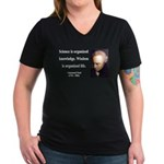 Immanuel Kant 9 Women's V-Neck Dark T-Shirt