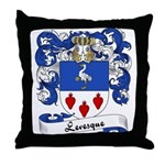 Levesque Family Crest Throw Pillow
