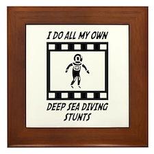Deep Sea Diving Stunts Framed Tile