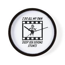 Deep Sea Diving Stunts Wall Clock