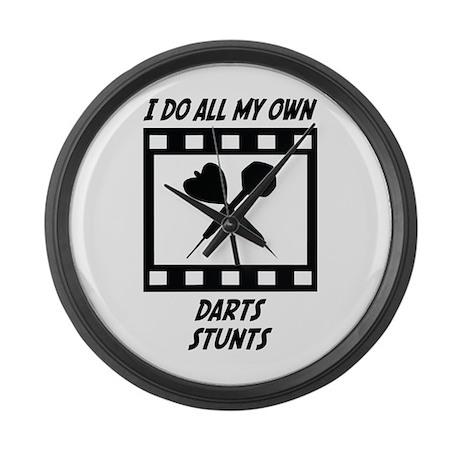 Darts Stunts Large Wall Clock