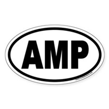 AMP Euro Oval Decal