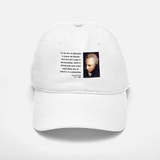 Immanuel Kant 10 Baseball Baseball Cap