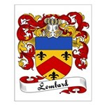 Lombard Family Crest Small Poster