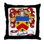 Lombard Family Crest Throw Pillow