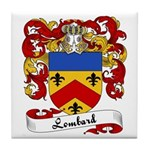 Lombard Family Crest Tile Coaster