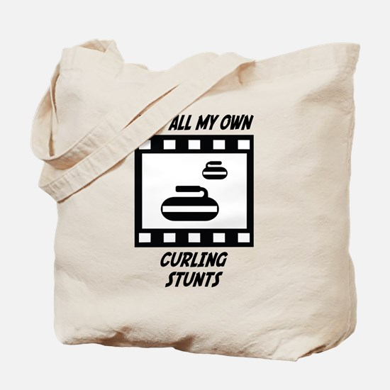 Curling Stunts Tote Bag