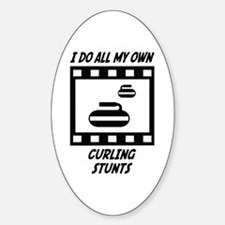 Curling Stunts Oval Decal