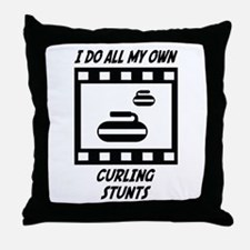 Curling Stunts Throw Pillow