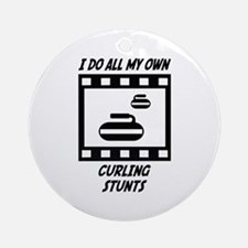 Curling Stunts Ornament (Round)