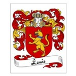 Louis Family Crest Small Poster