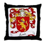 Louis Family Crest Throw Pillow
