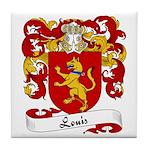 Louis Family Crest Tile Coaster