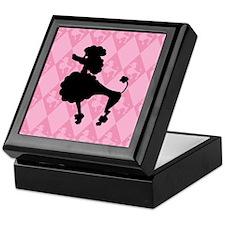 Poodle in Pink Keepsake Box