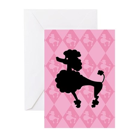 Poodle in Pink Greeting Cards (Pk of 10)