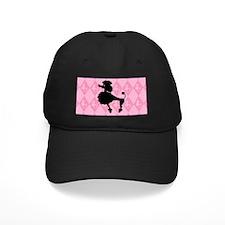 Poodle in Pink Baseball Hat