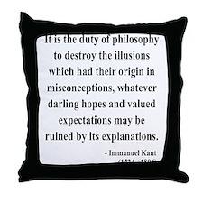 Immanuel Kant 10 Throw Pillow