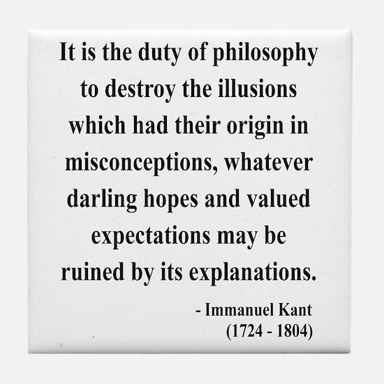 Immanuel Kant 10 Tile Coaster