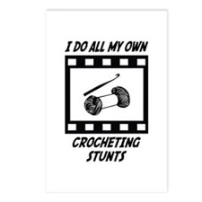 Crocheting Stunts Postcards (Package of 8)