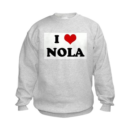I Love NOLA Kids Sweatshirt