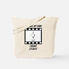 Crane Stunts Tote Bag