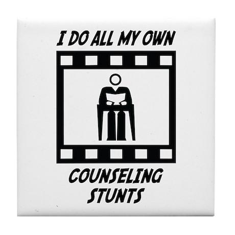 Counseling Stunts Tile Coaster