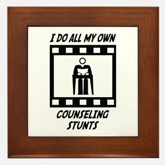 Counseling Stunts Framed Tile