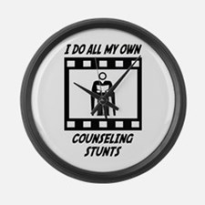 Counseling Stunts Large Wall Clock