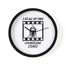 Counseling Stunts Wall Clock