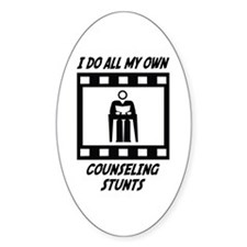 Counseling Stunts Oval Decal