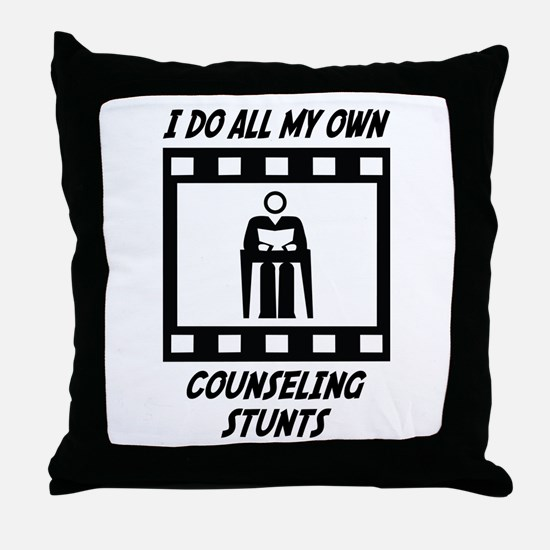 Counseling Stunts Throw Pillow