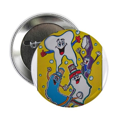 """Toothy and Friends 2.25"""" Button (100 pack)"""