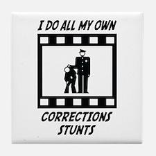 Corrections Stunts Tile Coaster