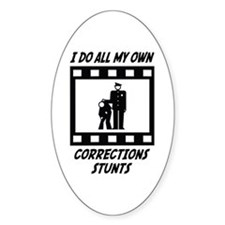 Corrections Stunts Oval Decal