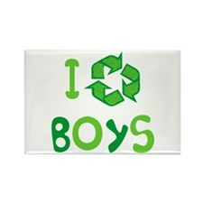I Recycle Boys Rectangle Magnet