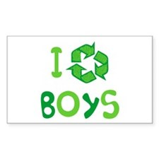 I Recycle Boys Rectangle Decal