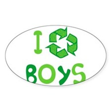 I Recycle Boys Oval Decal