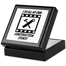 Construction Stunts Keepsake Box