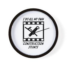 Construction Stunts Wall Clock