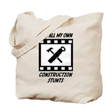 Construction Stunts Tote Bag