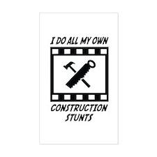 Construction Stunts Rectangle Decal