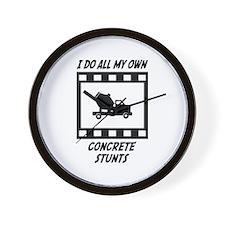 Concrete Stunts Wall Clock