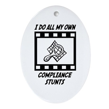 Compliance Stunts Oval Ornament