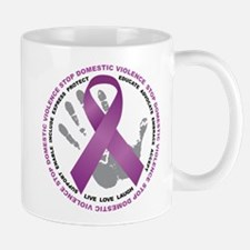 Stop Domestic Violence Ribbon Mug