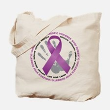 Stop Domestic Violence Ribbon Tote Bag