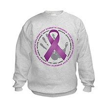 Stop Domestic Violence Ribbon Sweatshirt