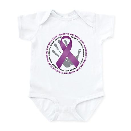 Stop Domestic Violence Ribbon Infant Bodysuit