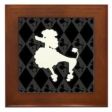 Retro Poodle Framed Tile