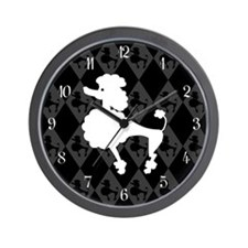 Retro Poodle Wall Clock