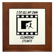 Climbing Stunts Framed Tile